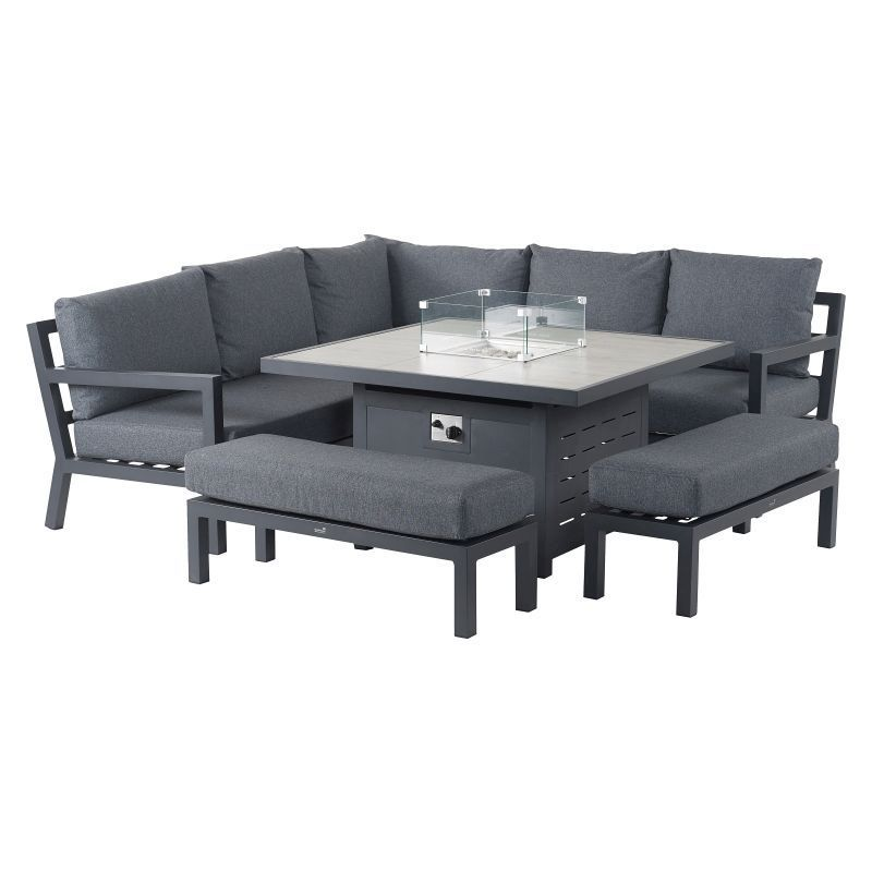 Bramblecrest La Rochelle Modular Sofa with Firepit Set | Online Exclusive & Local Delivery Only