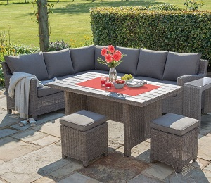Kettler Palma Right Sided Corner Set - Rattan | Local Delivery Only