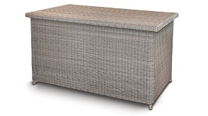 Kettler Palma Large Cushion Box - Whitewash | Local Delivery Only