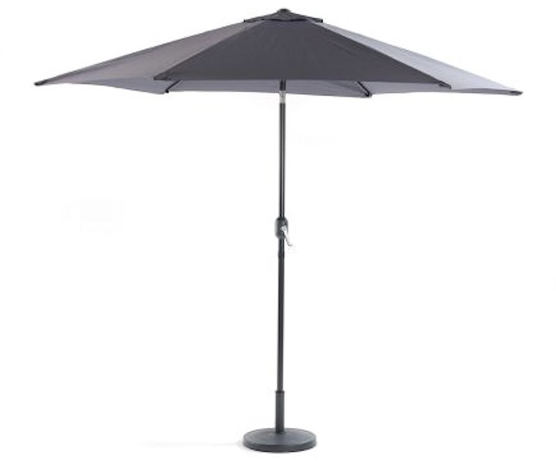 LifestyleGarden 3m Crank & Tilt Parasol - Grey | Local Delivery Only