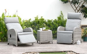 LifestyleGarden Aruba Duo Recliner  Set | Local Delivery Only