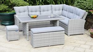 LifestyleGarden Aruba Lite Rectangular Corner Set | Local Delivery Only