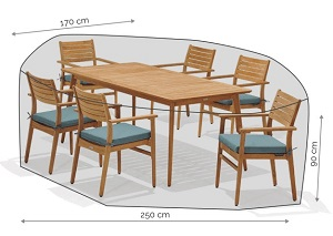 LifestyleGarden Cover - 6 Seat Rectangle Set
