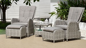 LifestyleGarden Samoa Duo Recliner Set | Local Delivery Only