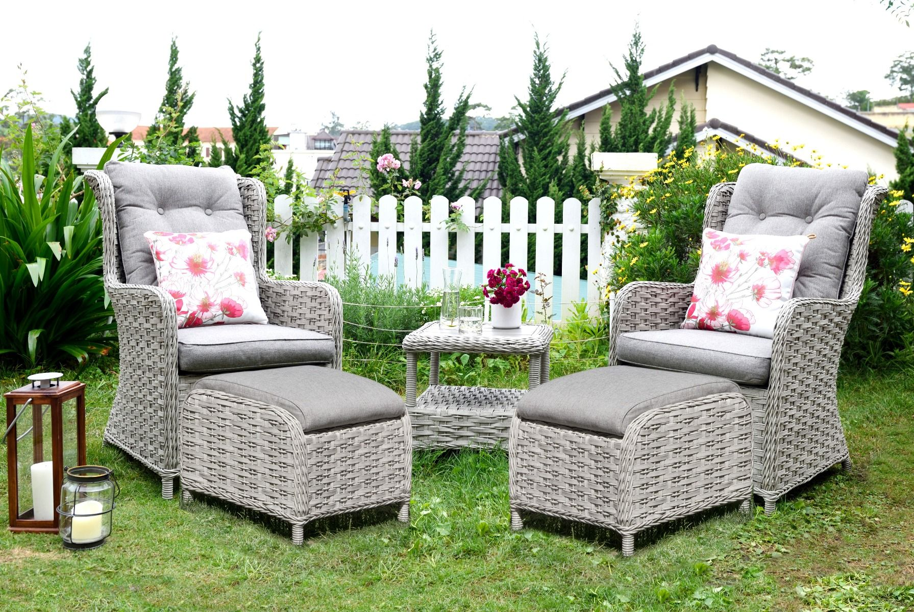 LifestyleGarden Samoa Duo Set with Footstools | Local Delivery Only