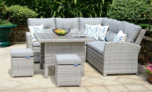 LifestyleGarden Aruba Mini Corner Set | Local Delivery Only