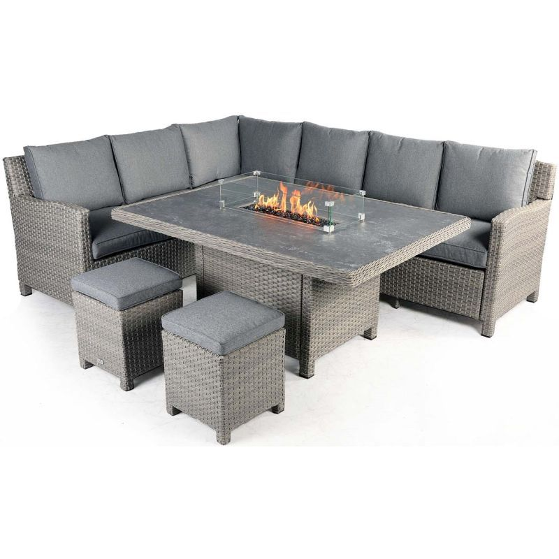 Supremo Catalan Corner Firepit Set | Local Delivery Only