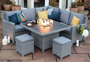 Supremo Catalan Mini Corner Firepit Set | Local Delivery Only