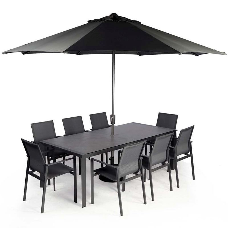 Supremo Portobello 8 Seat Set with Parasol | Local Delivery Only
